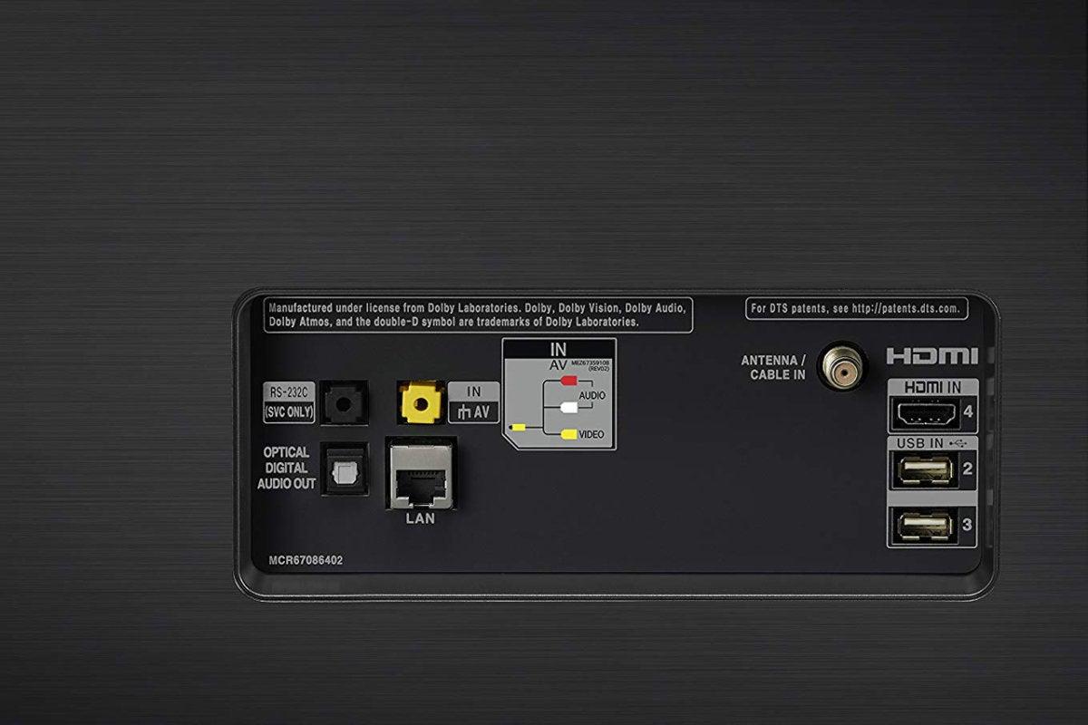 lg oled55e8pua rear inputs