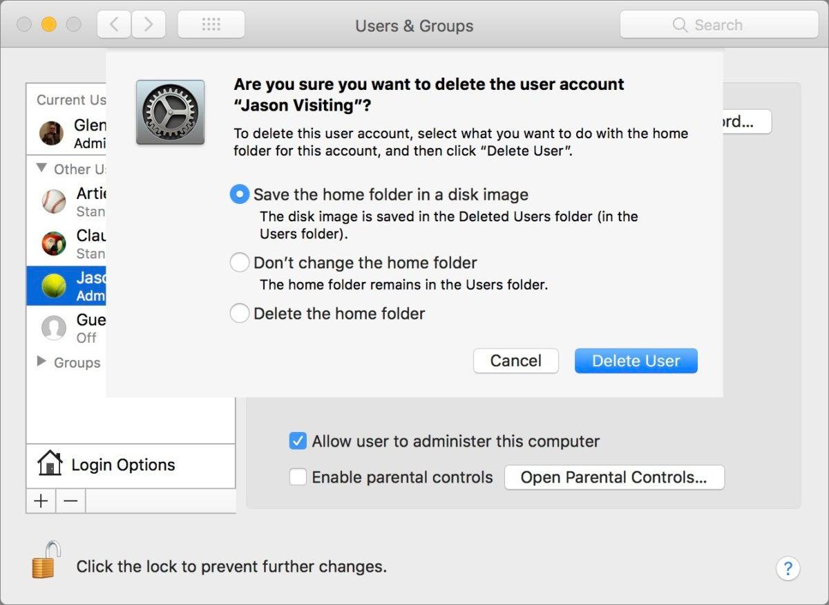 mac911 delete user account