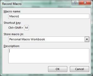 macro shortcut key