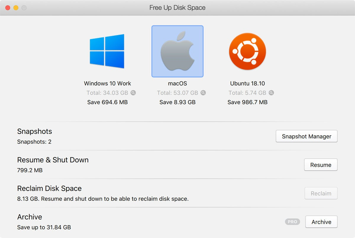 parallels desktop 14 free up disk space