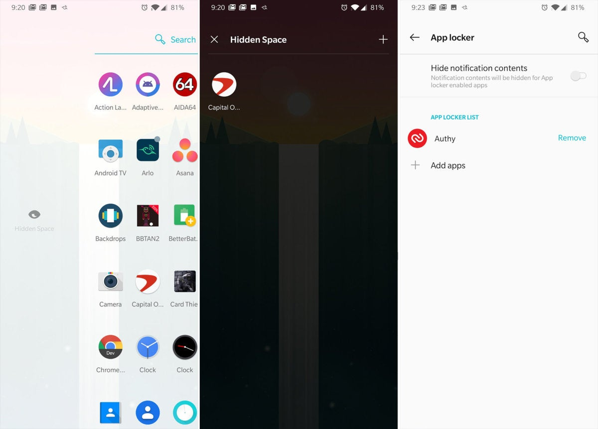 protect apps oneplus