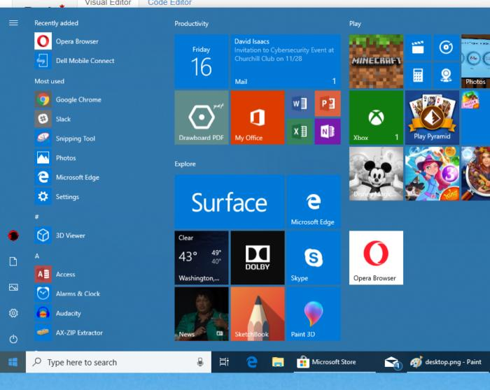 Start Menu for Windows 10 Personalization