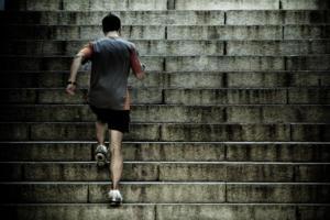 training running motivation career growth stamina stairs