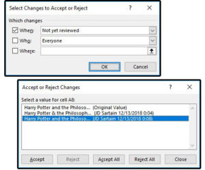 04 select changes then accept or reject those changes