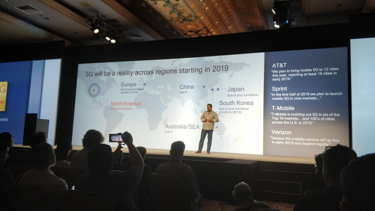 qualcomm snapdragon tech summit  5g in u.s.
