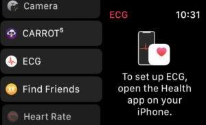 Приложение Apple Watch ECG