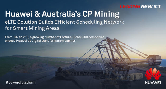 australias cp mining and huawei build smart mining areas