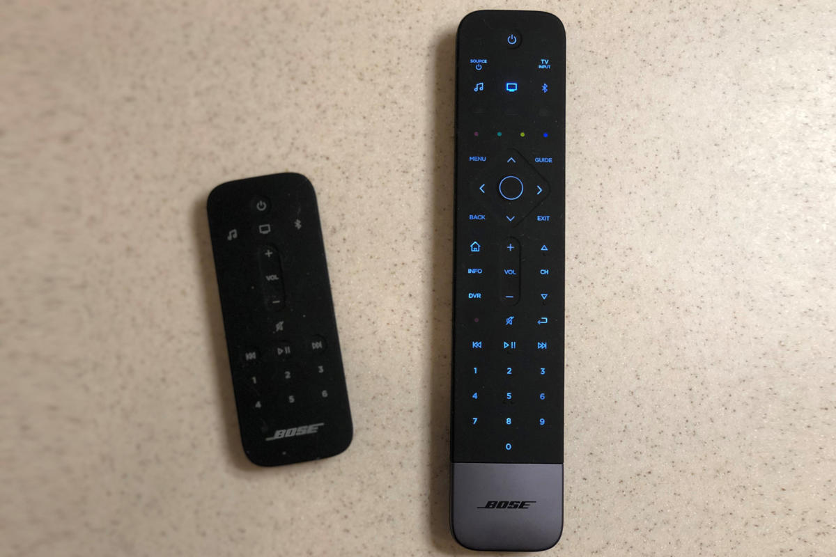 bose soundbar 500 two remotes