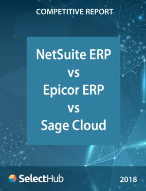 NetSuite ERP vs. Epicor ERP vs. Sage Business Cloud―Competitive Report