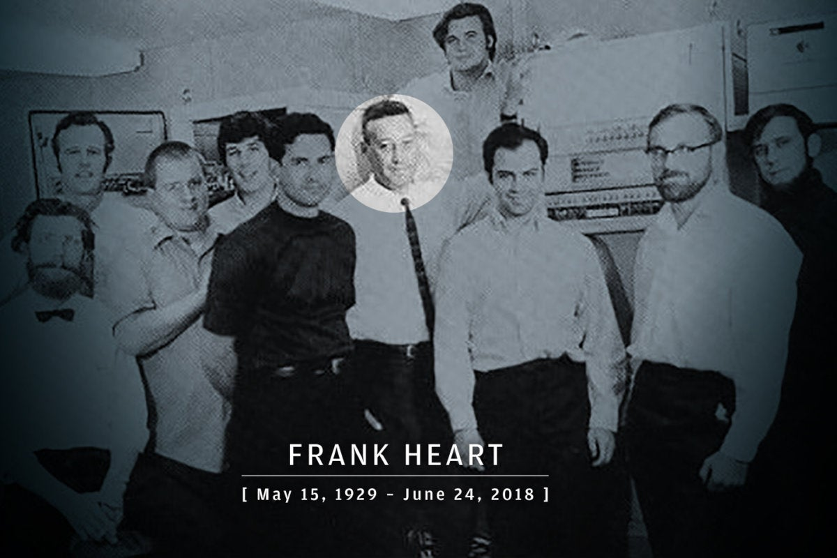 CW > In Memoriam 2018 > Frank Heart, 1929-2018, pictured with 1969 Arpanet IMP team