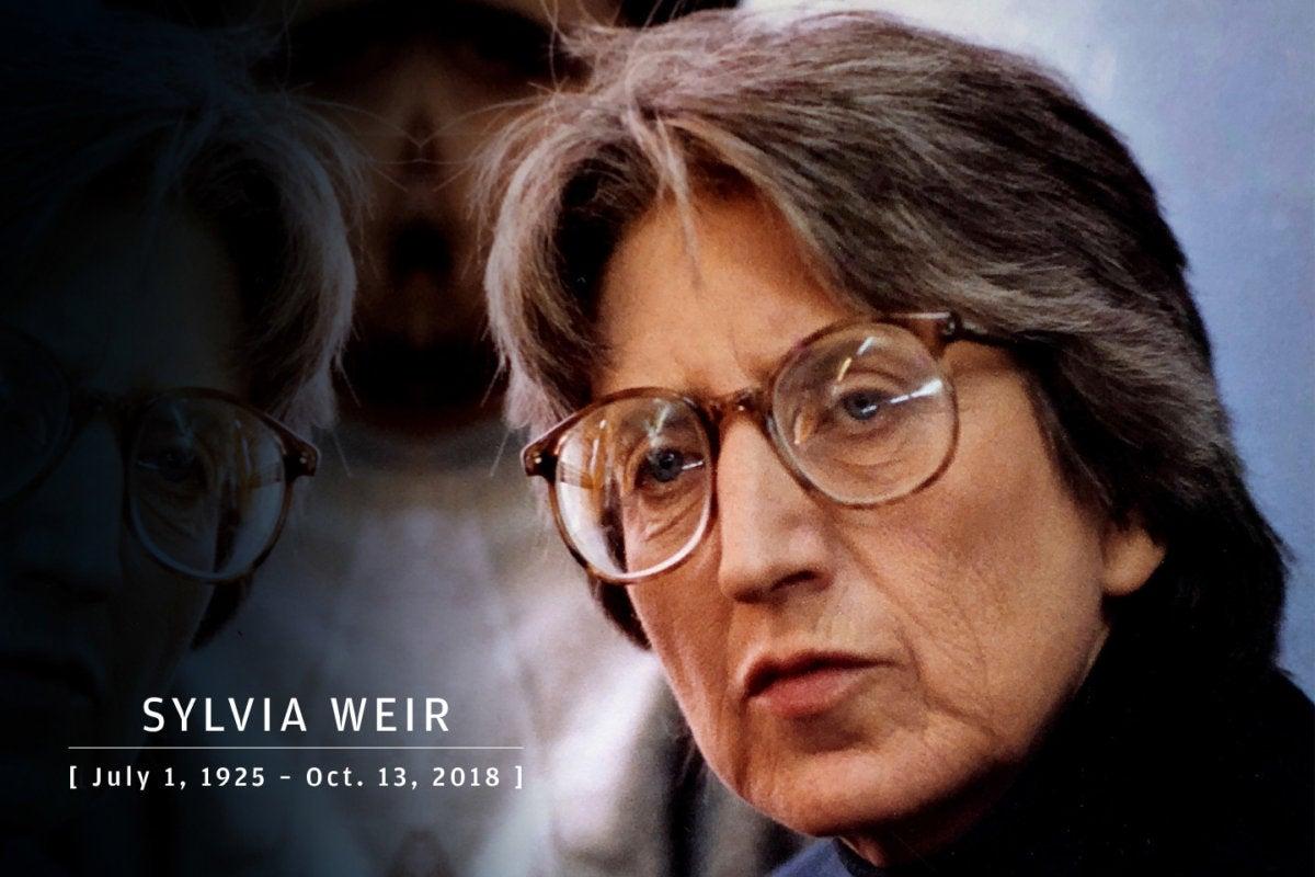 CW > In Memoriam 2018 > Sylvia Weir, co-created LOGO, 1925-2018