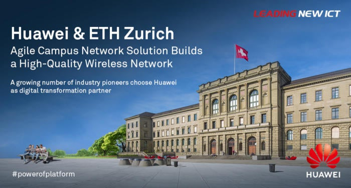 eth zurich relies on high performance wi fi from huawei