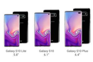 galaxy s10 sizes