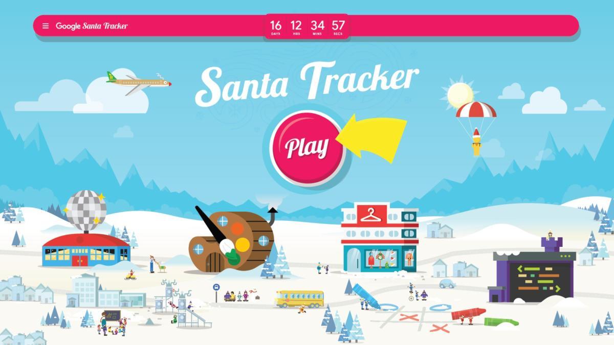 google santa tracker village 2018