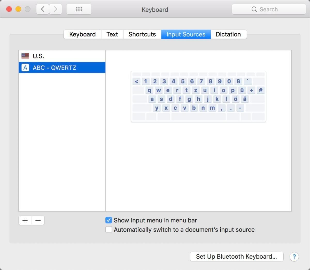 Панель настроек клавиатуры Mac911