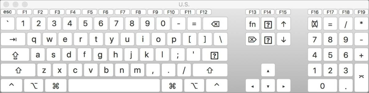 mac911 keyboard viewer us