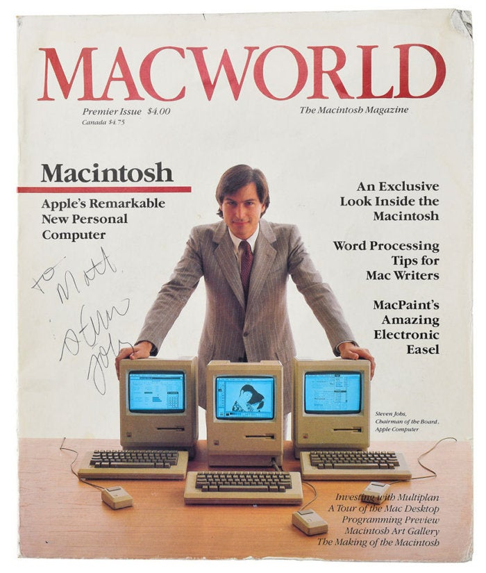 macworld first issue steve jobs autograph