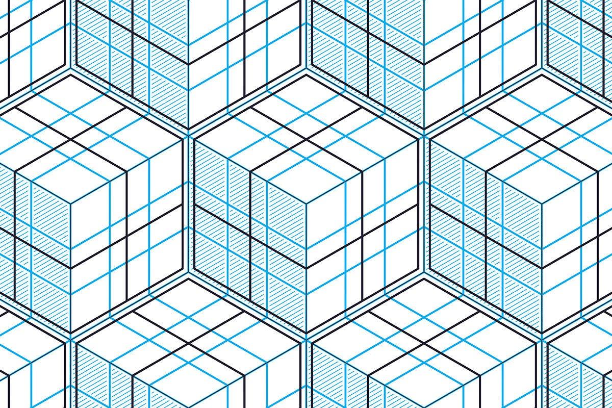 modular geometric cube structure / grid / matrix