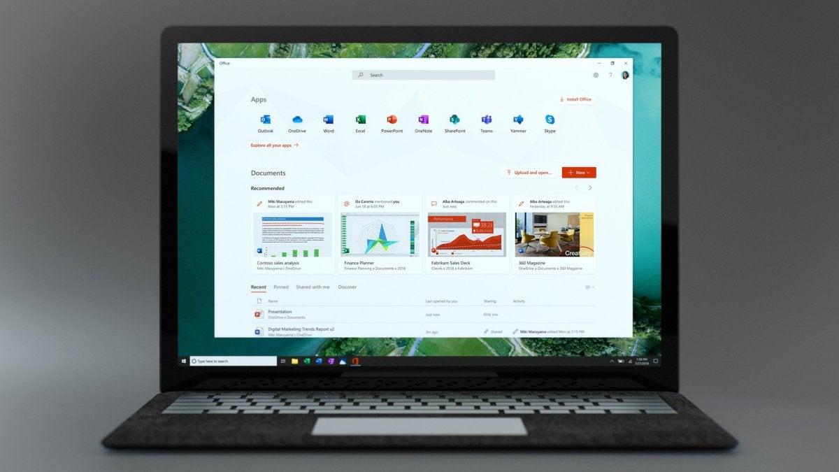 Microsoft Windows 10 insider Build 18305 new office app
