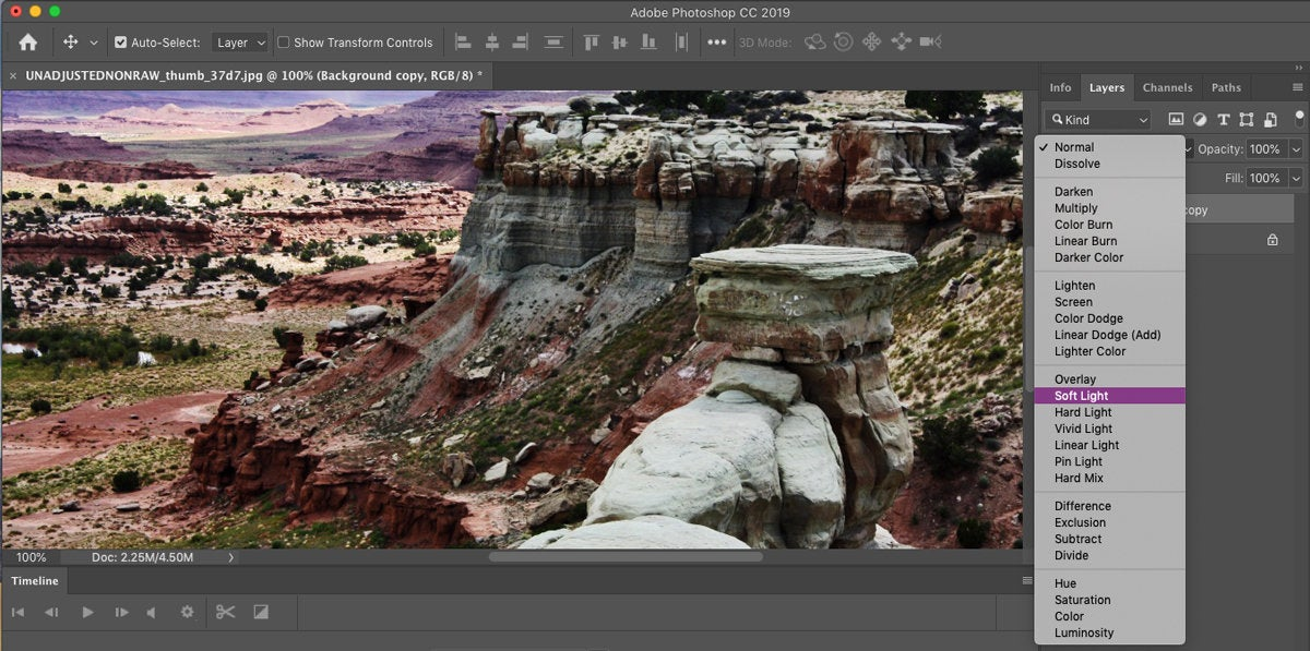 photoshop cc 2019 blend mode preview
