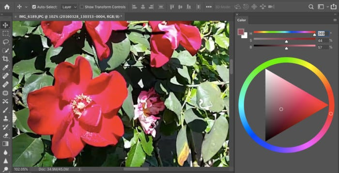 photoshop cc 2019 color wheel