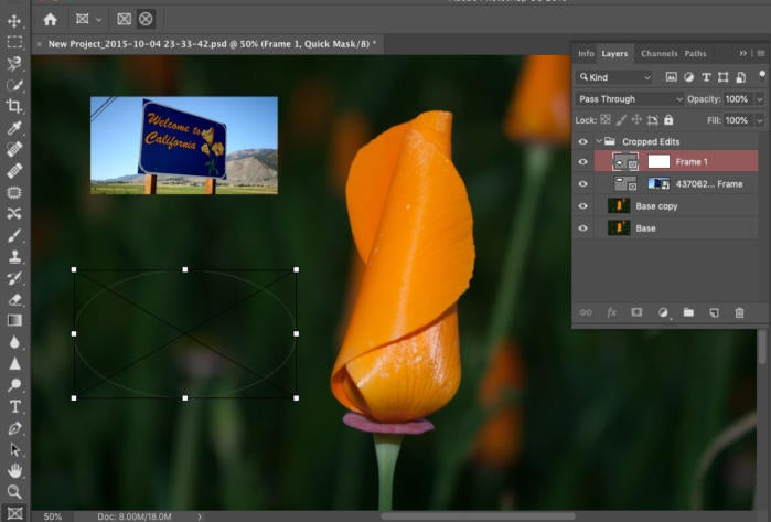 photoshop cc 2019 frame tool