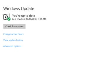 windows update check for updates
