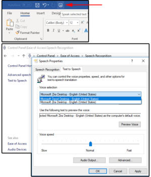 002 change speak preferences in windows control panel