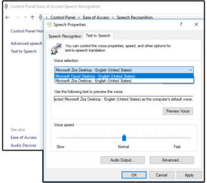 03 change speak preferences in windows control panel