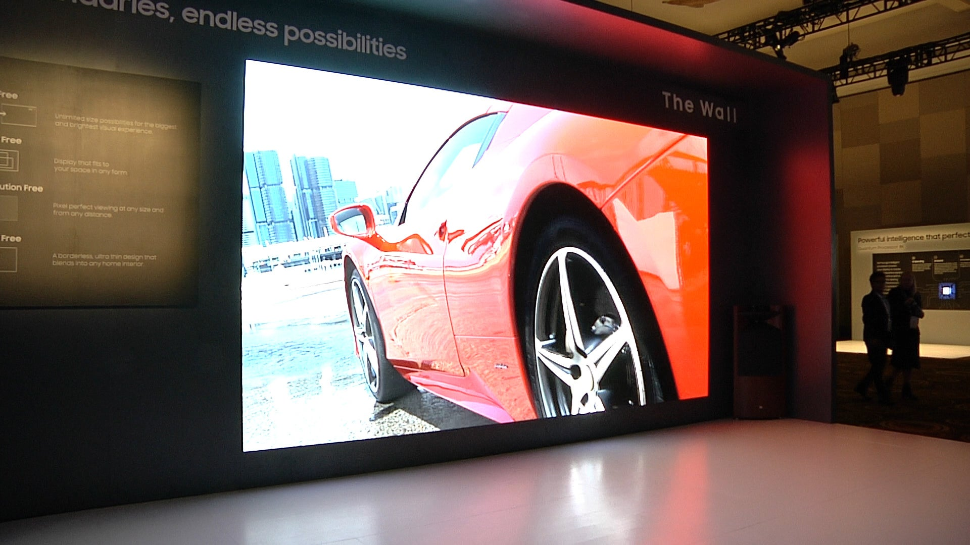 Samsung Is Showing A 219 Inch Version Of Its The Wall Micro Led Tv
