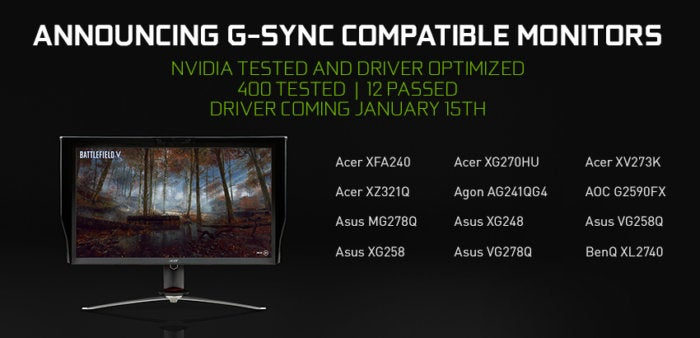 6 g sync compatible monitors