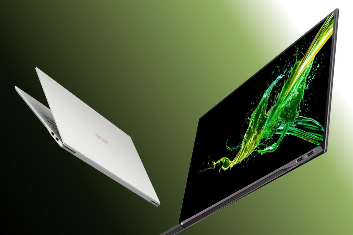 Kết quả hình ảnh cho Acer's new Swift 7 ultra-thin PC is even smaller, but adds Thunderbolt, Amber Lake and a clickpad