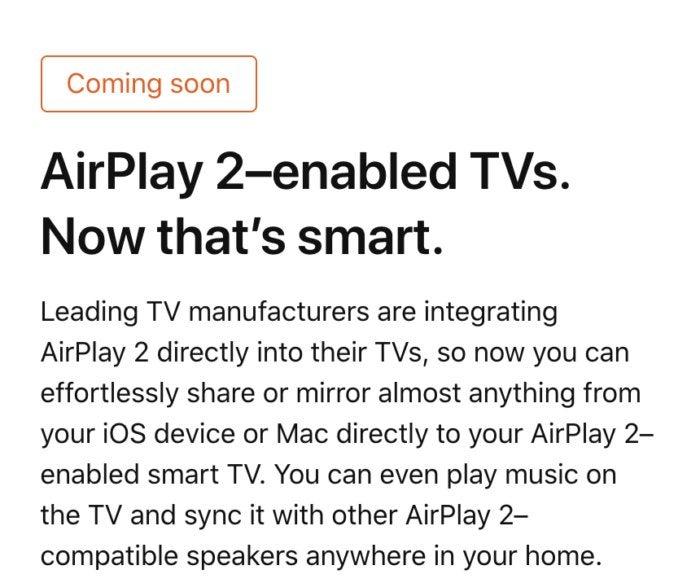 airplay2 tv