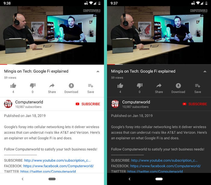 Android Dark Mode - YouTube