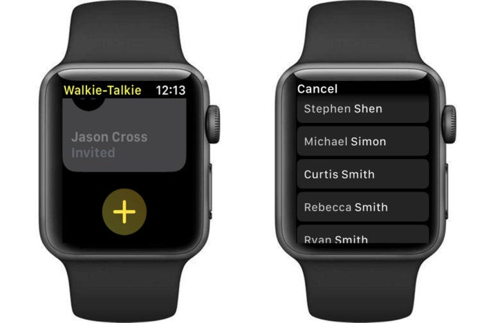 apple watch contacts