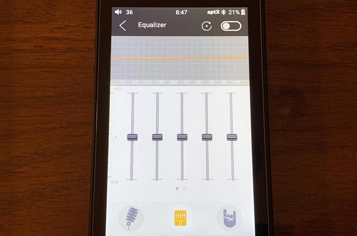 The Fiio M7 allows you to apply custom EQ to your music.