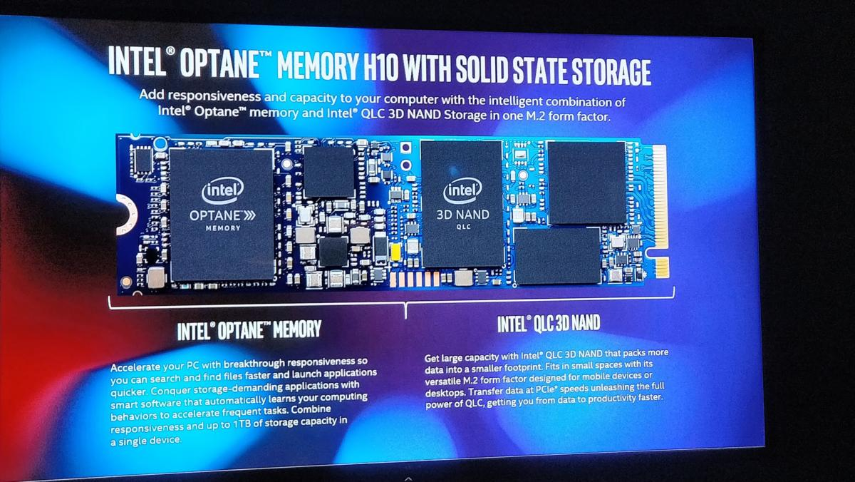 Intel Optane slide