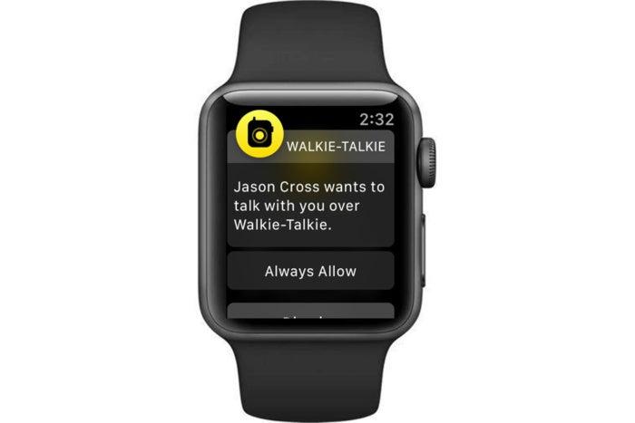 Accepting Walkie-Talkie invitation