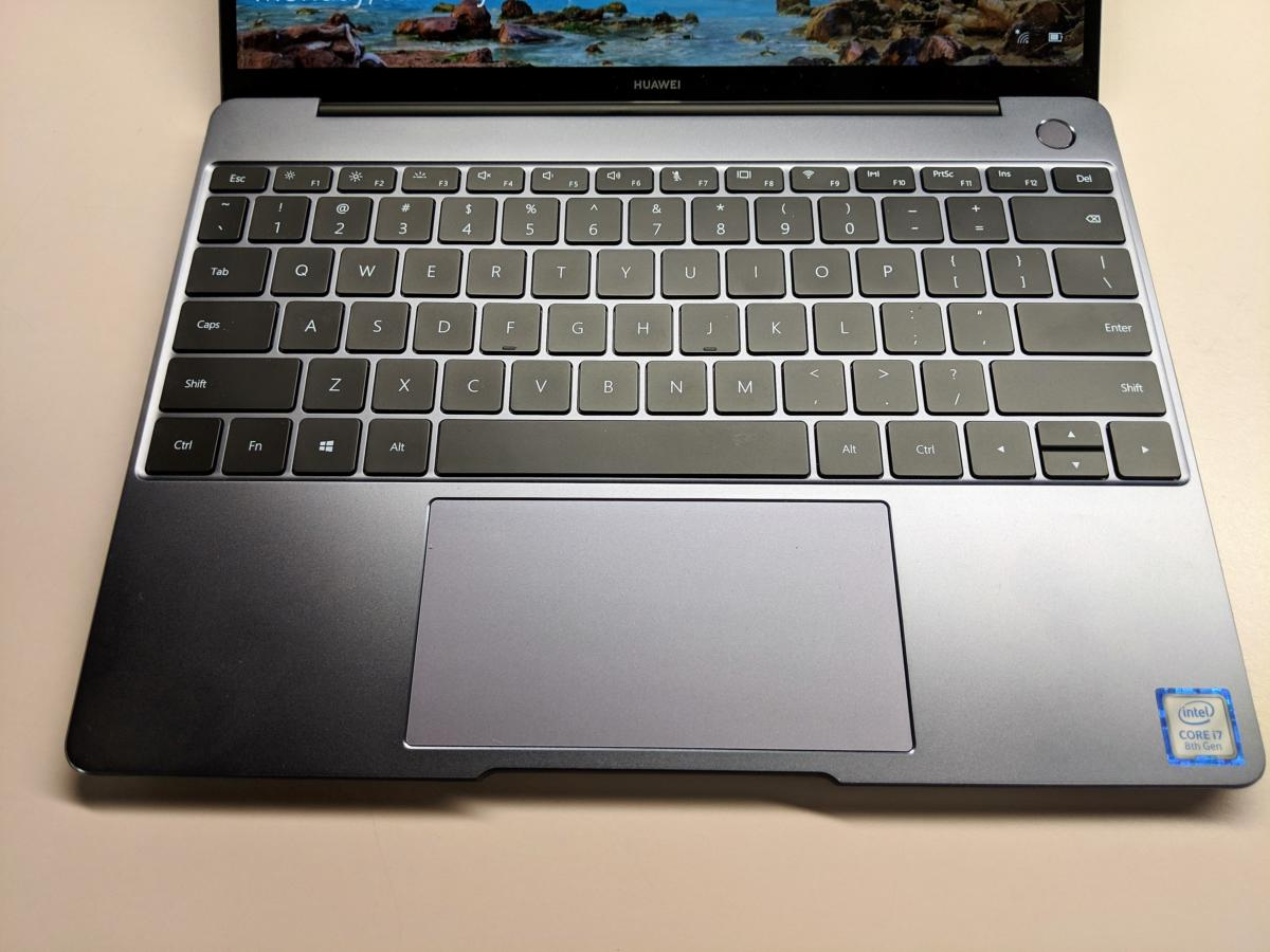 Huawei Matebook 13 keyboard