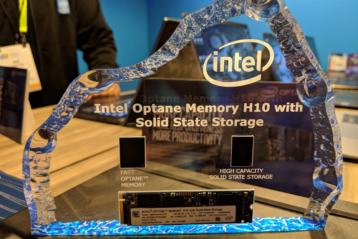 photo image Intel's Optane Memory H10 marries super-fast Optane and SSD storage on one M.2 card