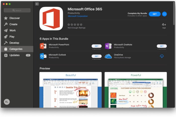 Microsoft Office 365 apps are now available in the Mac App Store