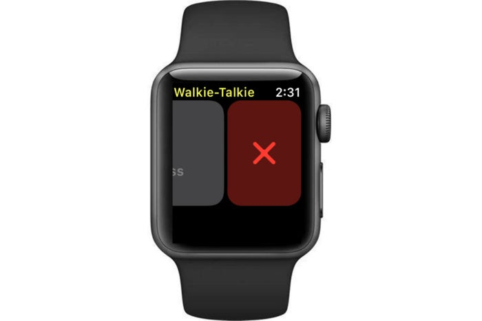 removing walkie talkie contact