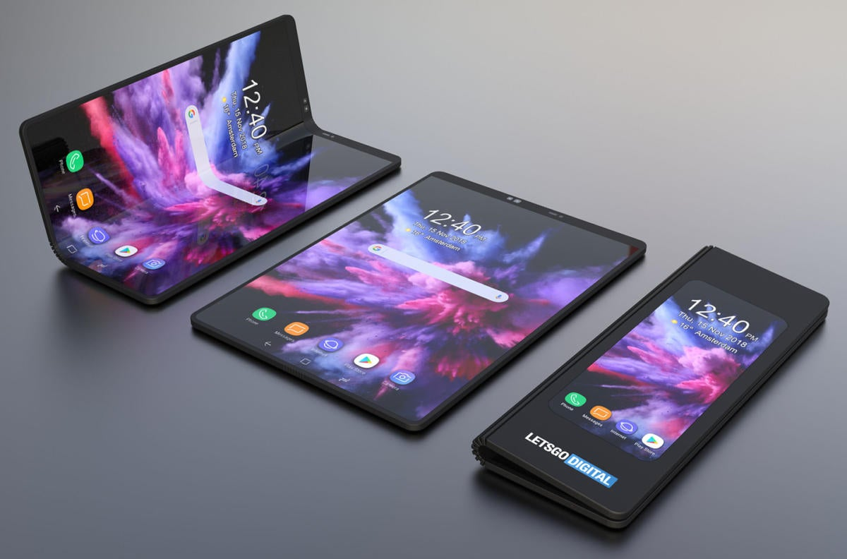 LetsGoDigital has rendered mockups of what Samsung's Infinity Flex phone could look like.