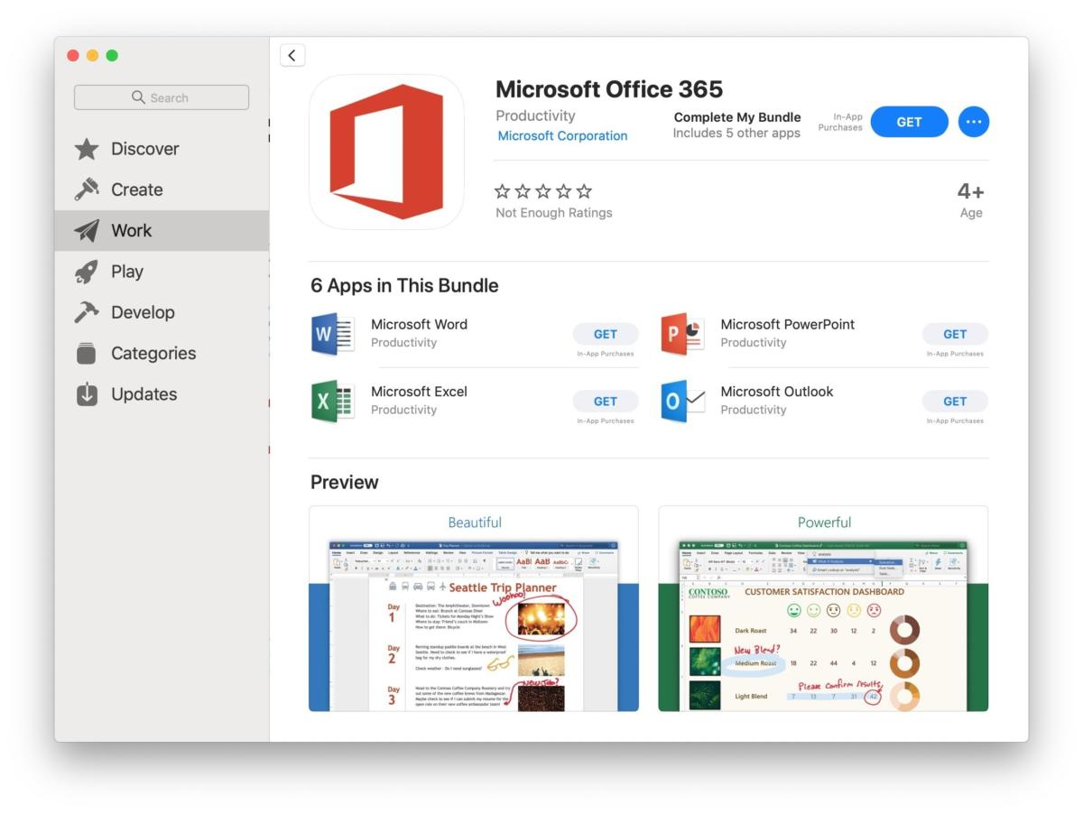 Office apps in Mac App Store