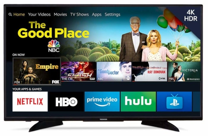 This 43-inch 4K HDR television with Amazon Fire TV built-in is on sale for $200