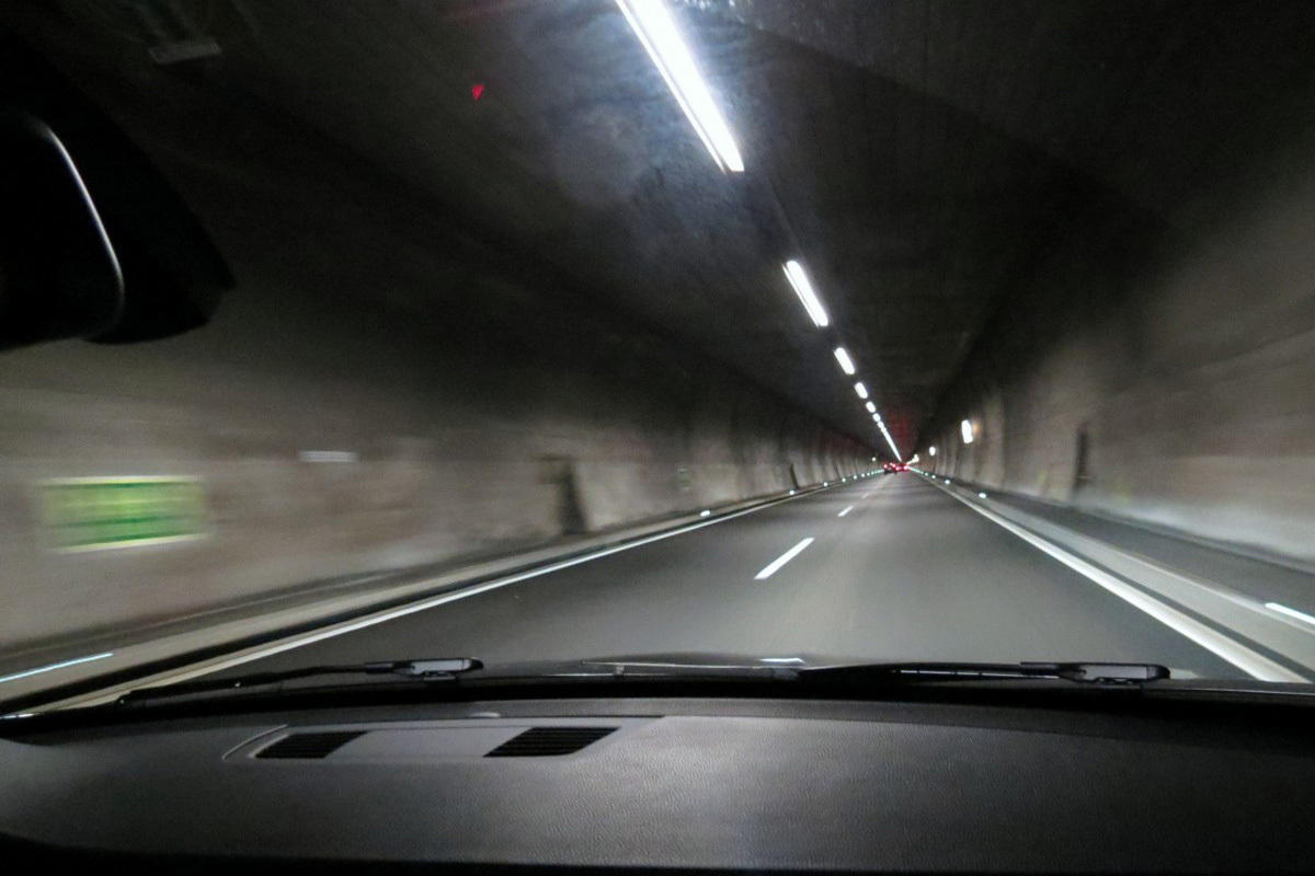 tunnel highway driving car roadmap