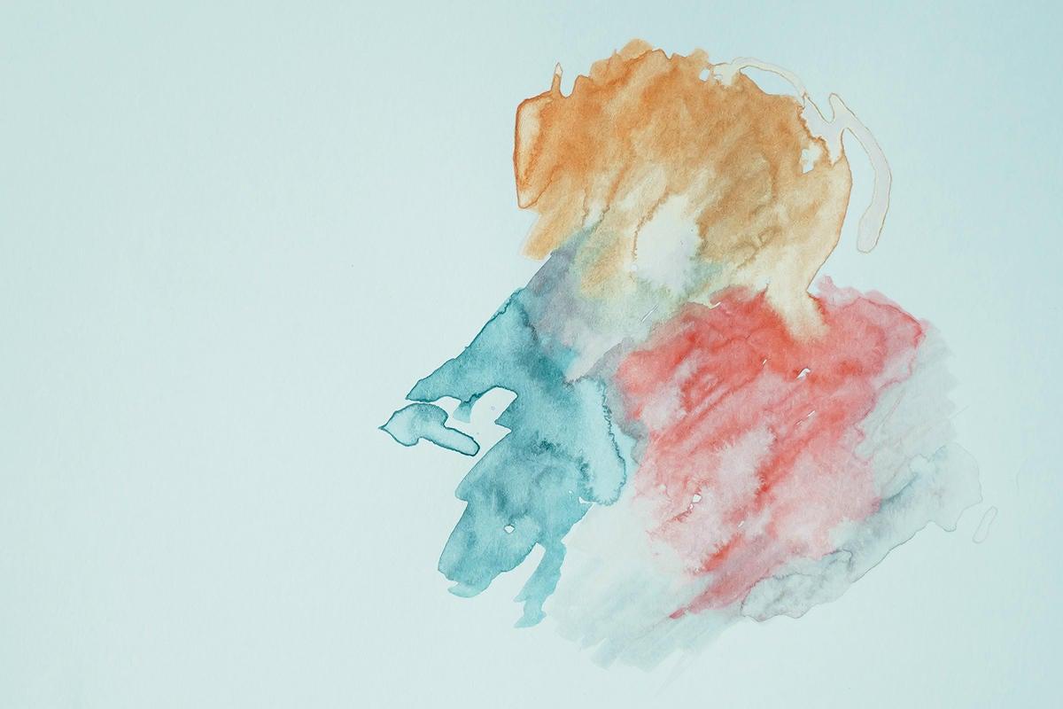 watercolour / watercolor paint marks