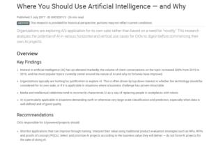 where you should use ai and why