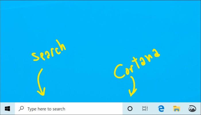 windows search cortana