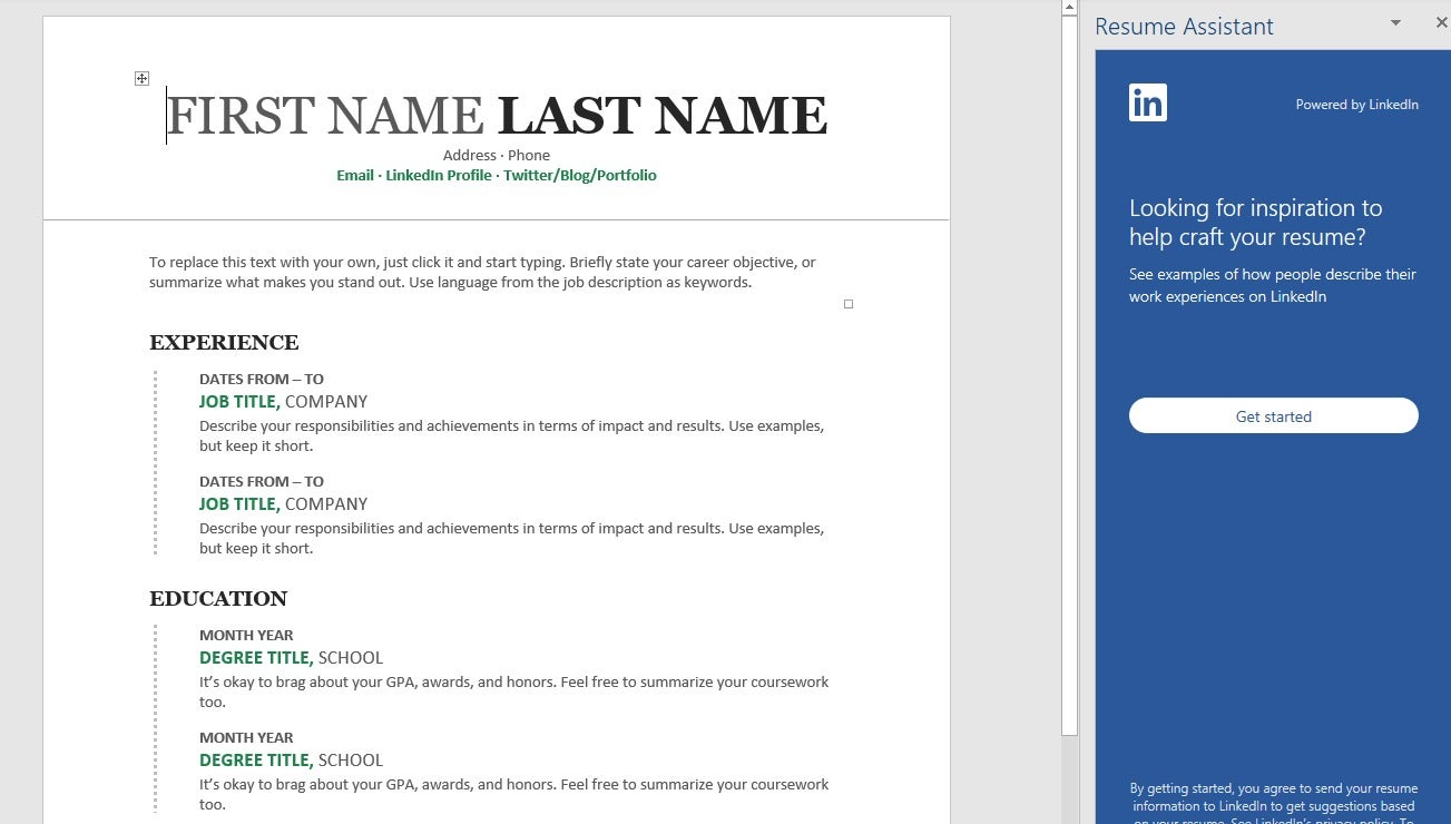 How To Use Microsoft Word's Resume Assistant To Look For A New Job... On LinkedIn